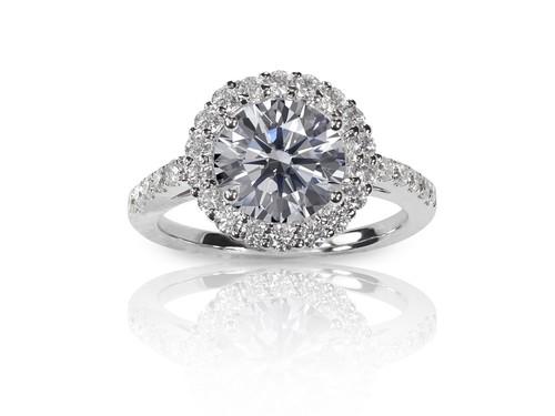 Kansas City halo engagement ring